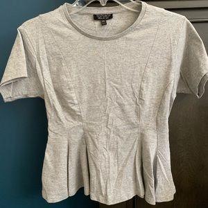 Topshop gray peplum style shirt